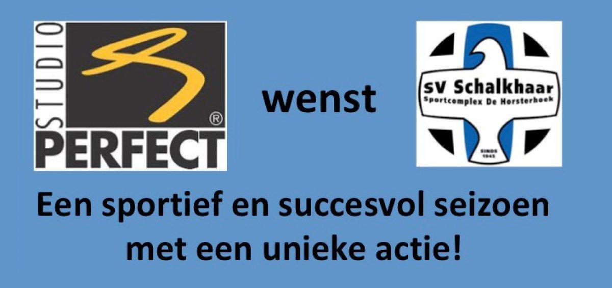 Sponsor Studio Perfect wenst SV Schalkhaar een sportief en